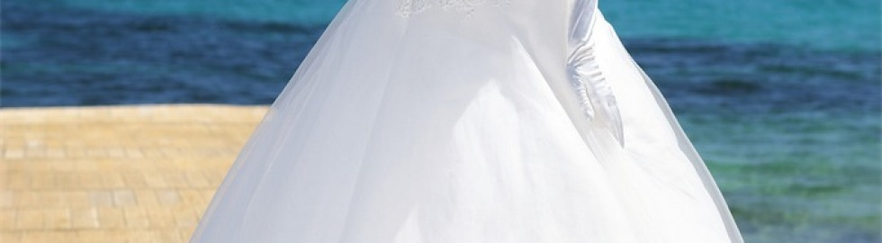 Trouwjurk witte markies